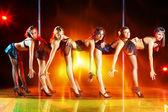 Five women show — Stock Photo