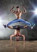 Two men dancing — Stock Photo