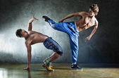 Two young men sports fighting — Stock Photo