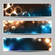 Banners with abstract lights - Stock Vector