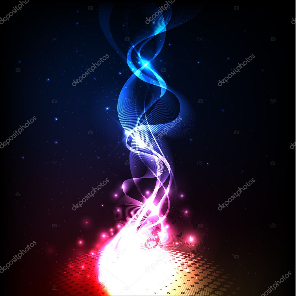 Background with colorful and magic lights — Stock Vector #10537149