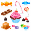 Mixed candy vector — Stock Vector