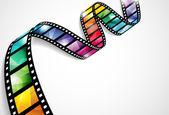 Bande de film coloré — Vecteur