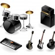 Vector de stock : Modern music instruments