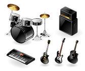 Moderne muziekinstrumenten — Stockvector