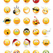 Set of 30 emoticons - Stock Vector