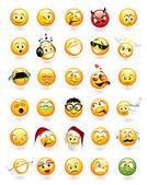 Conjunto de 30 emoticons — Vetorial Stock