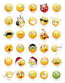 Set of 30 emoticons — Vetorial Stock