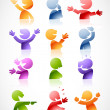 Colorful talking characters - Stock Vector