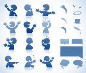 Hablando de personaje de dibujos animados — Vector de stock