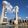 Stock Photo: Industrial power plant with smokestack