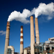 Стоковое фото: Industrial power plant with smokestack