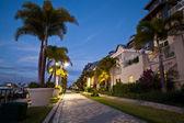 Tropical Resort Dramatic Night View — Stock Photo