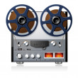 Stereo reel to reel tape deck player recorder vector — Stock Vector