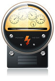 Electricity hydro power counter vector — Stok Vektör