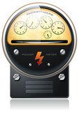 Electricity hydro power counter vector — Stock Vector