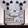 Analog Stereo Open Reel Tape Deck Recorder - Stock Photo