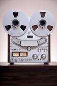 Analog Stereo Open Reel Tape Deck Recorder — Stockfoto