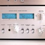 Analog Sound Recording Controls — Stock Photo
