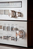 Analog Vintage Stereo Volume Knob Control — Stock Photo