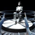 The girl a cyborg — Stock Photo