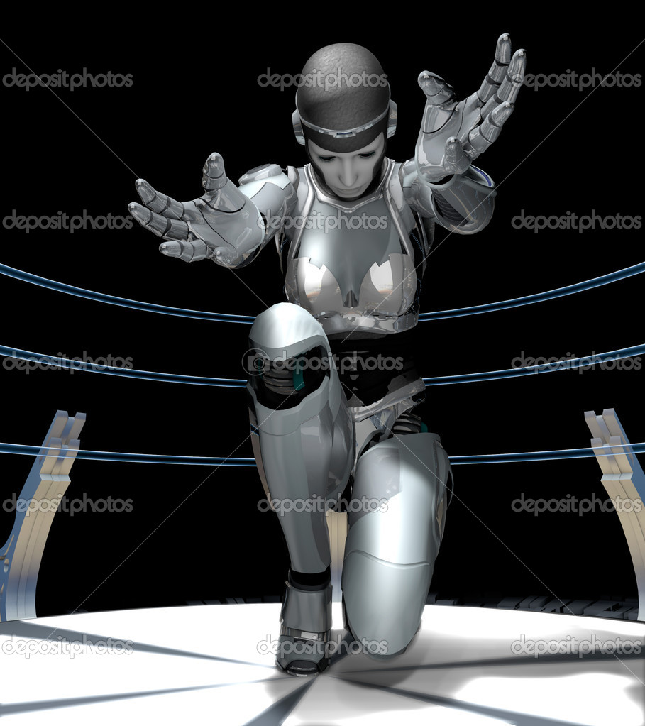 The abstract image of the girl of a cyborg  Stock Photo #8424220