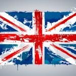 Grunge UK national flag — Stock Vector #10067958