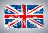 Grunge UK national flag — Stock Vector