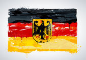 Grunge Germany national flag — Stock Vector