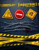Endüstriyel arka plan — Stok Vektör
