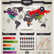 Vector set of infographics elements. — Stock Vector