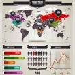 Vector set of infographics elements. — Stok Vektör #8131264