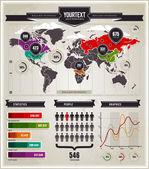 Vector conjunto de elementos de infográficos. — Vetorial Stock