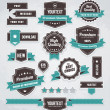 Vector set of retro labels, buttons and icons — Vettoriali Stock