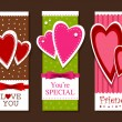 Stok Vektör: Valentines day postcards