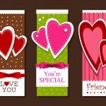 cartes postales Saint Valentin — Vecteur