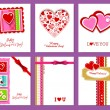 Royalty-Free Stock Obraz wektorowy: Vector set of valentine\'s day cards