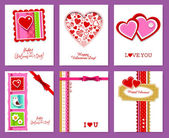 Vector set of valentine's day cards — Stock Vector