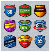 Vector set of retro badges — Stock Vector