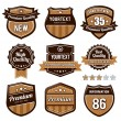 Vector set of retro badges — Image vectorielle