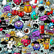 Graffiti seamless texture — 图库矢量图片 #9700351