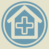 Veterinary sign house with cross — Cтоковый вектор