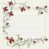 用鲜花的邀请卡 — 图库矢量图片