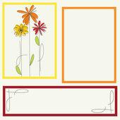 Barva rámu a květiny — Stock vektor