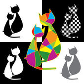 Collection of cats — Stock Vector