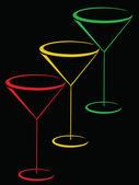 Color glasses of martini — Stock Vector