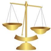 Golden balance scale — Stock Vector