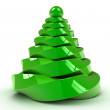 Christmas tree over white background — Stock Photo