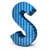 Niebieski list na białym tle — Zdjęcie stockowe