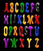 Cartoon-Vektor-Schrift, volle alphabet — Stockvektor